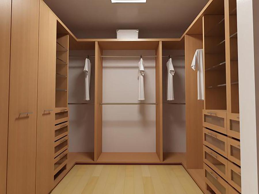 Foto vestidor en u de muebles sobre dise o 174501 for Modelos de zapateras para closets