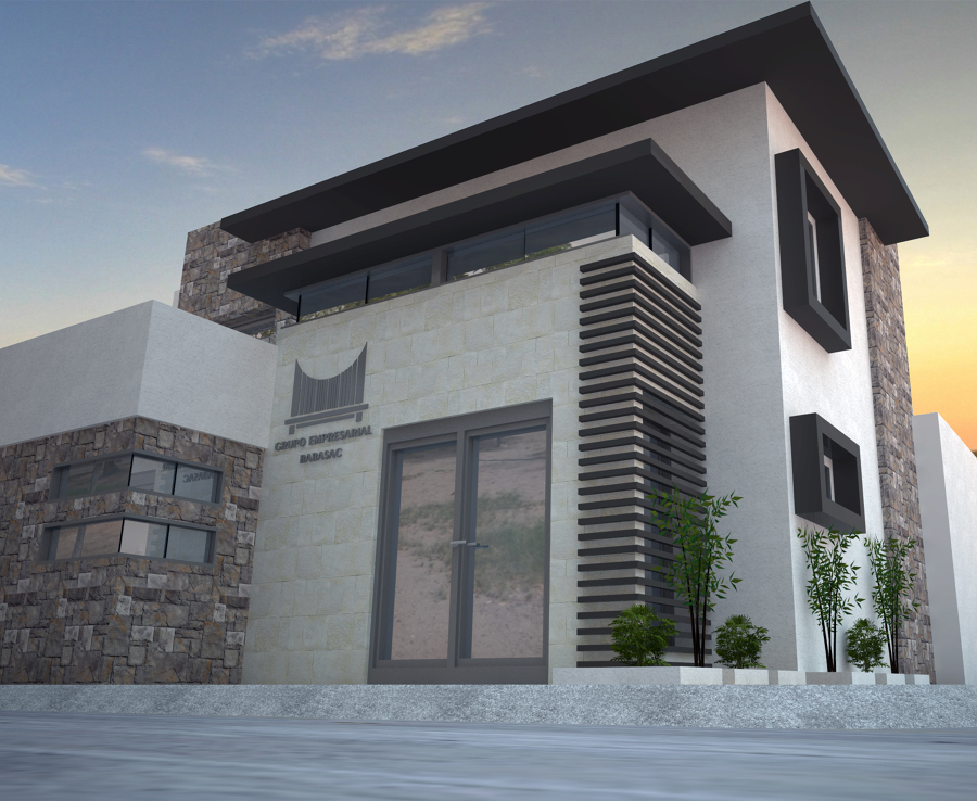 Proyecto oficinas geb ideas arquitectos for Fachadas oficinas modernas