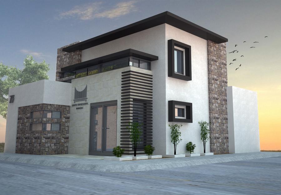 Proyecto oficinas geb ideas arquitectos for Oficinas modernas fachadas