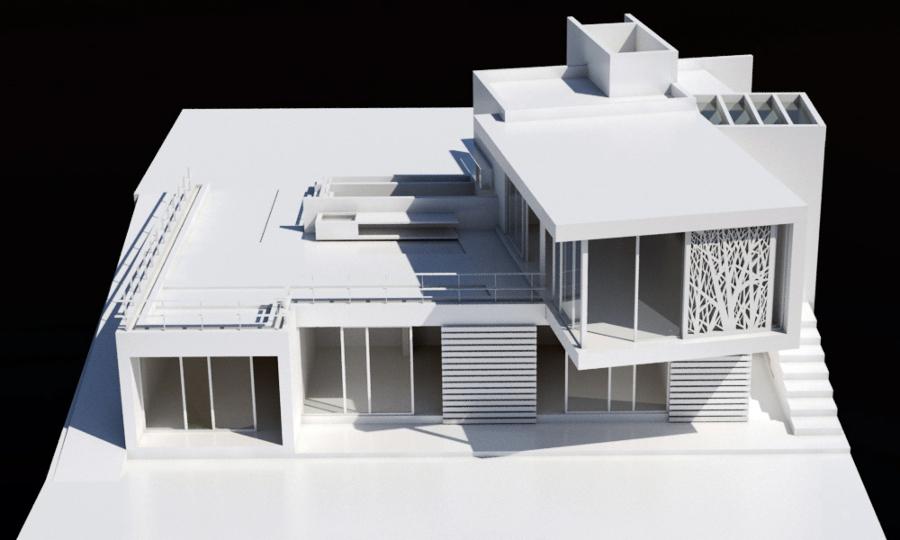 Foto vista a rea maqueta de zona arquitectonica 113792 for Casa minimalista maqueta