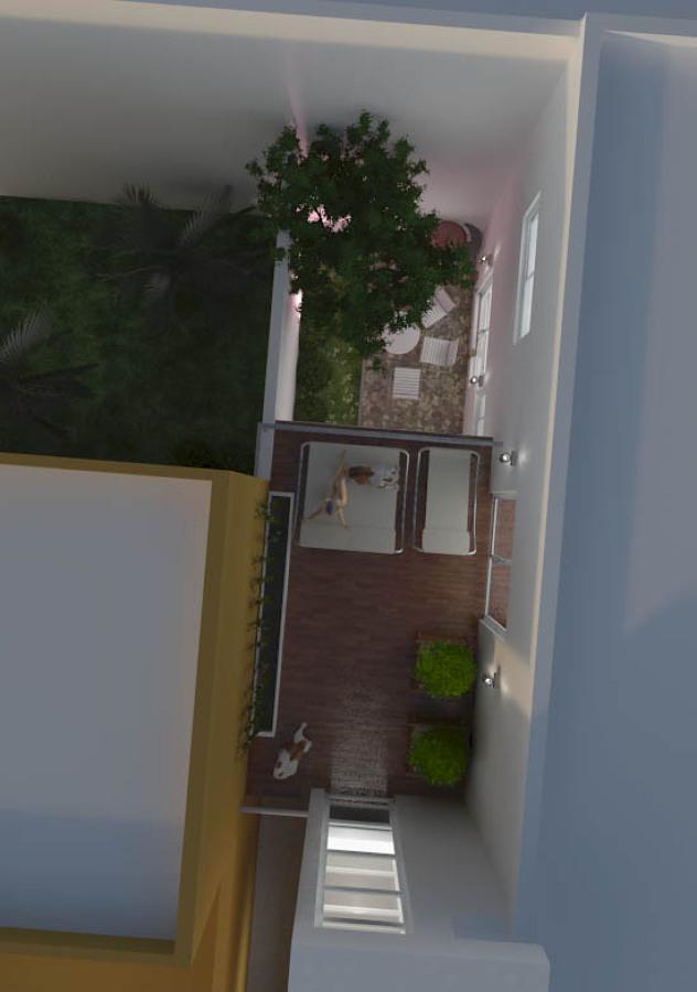 Vista en planta de terraza