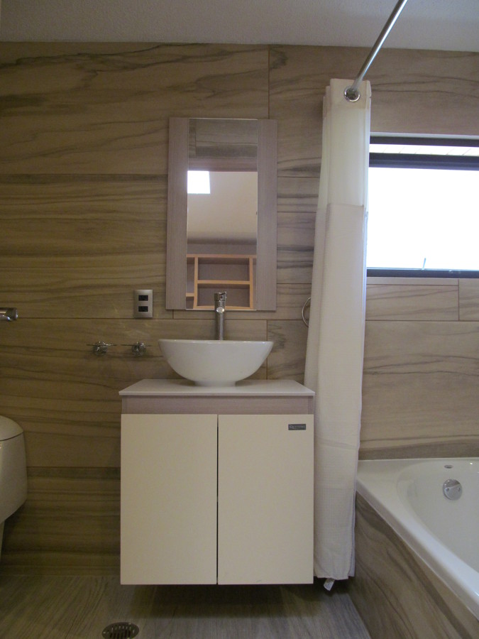 Vista frontal del lavabo