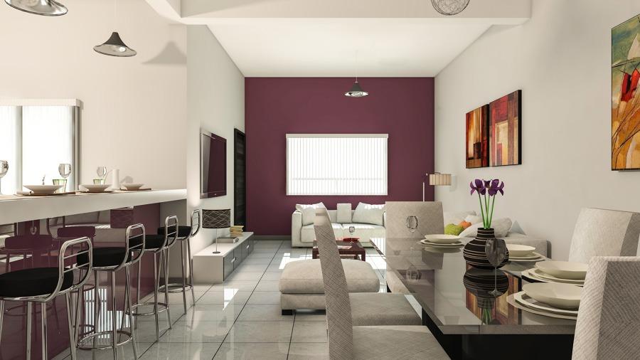 Foto vista interior sala comedor y cocina de resort for Casa minimalista interior cocina