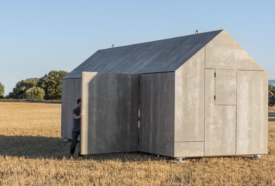 Casa prefabricada con apertura lateral