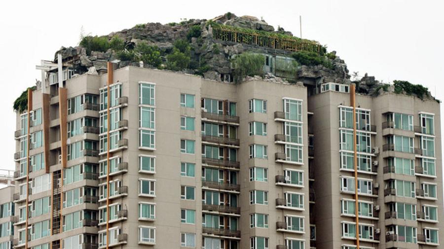 edificio montaña