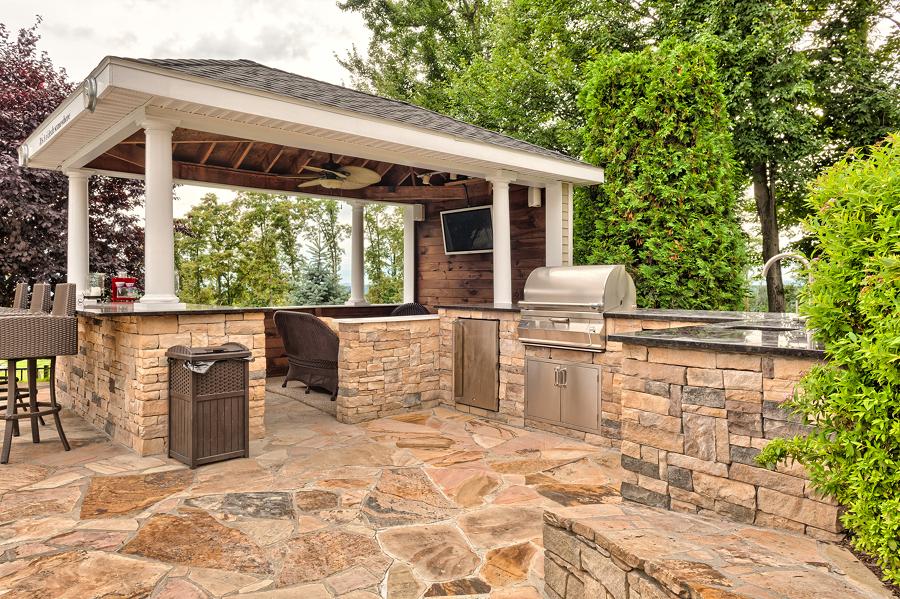 Foto zona asador con piedra 205502 habitissimo - Barbacoas de piedra natural ...