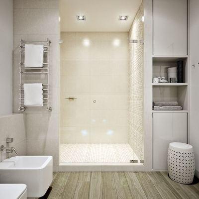 baño con piso vinílico