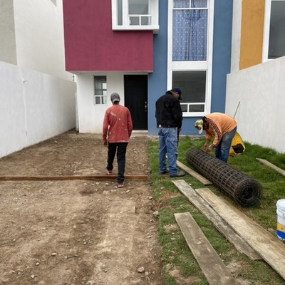 Construcción de piso firme de concreto para garage