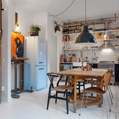 Suelos, muebles y maletas: mi hogar vintage