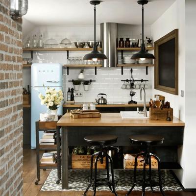 7 pequeñas cocinas abiertas a la sala