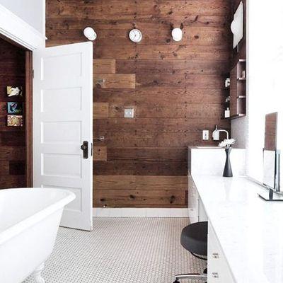 baño de madera