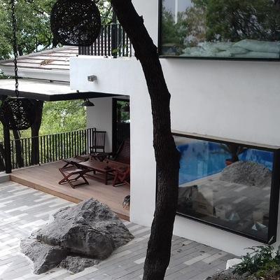 Acabado fachada jardin.