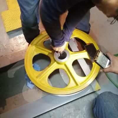 Cambio de cables y polea de  traccion elevador