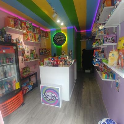 diseño para local de dulces americanos