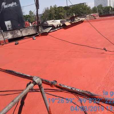 Impermeabilización de 41 m2 con rollo prefabricado 3.0 mm y retiro de sistema impermeable existente en mal estado