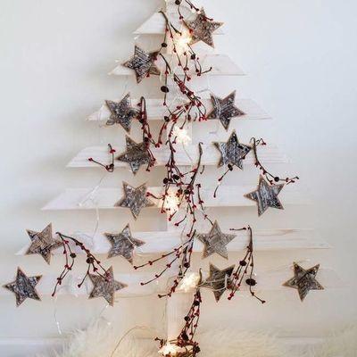 Árboles de Navidad hechos con palets