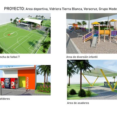 Proyecto: área deportiva, Vidriera Tierra Blanca, Veracruz, Grupo Modelo.