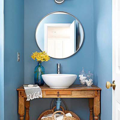 baño azul