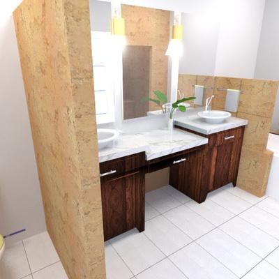 Propuesta de baño ubicado en Santa Fe
