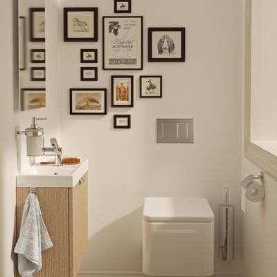 Baño con lavabo y WC mini