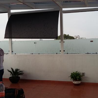 barandal perimetral en roof garden