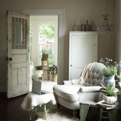 Entrada vivienda estilo clásico