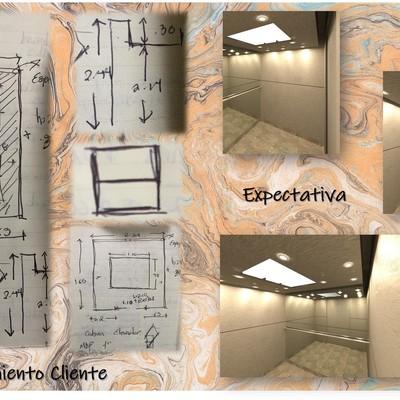 Remodelación cabina de elevador HyM Toluca
