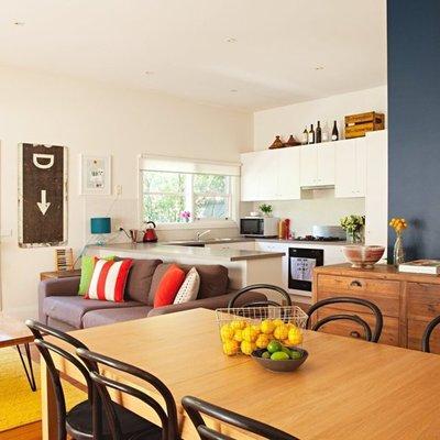 Una casa que vibra con el color