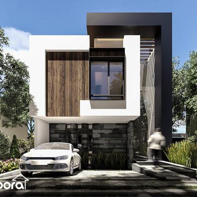 La fachada de tu próxima casa moderna.