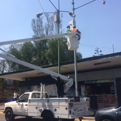 Mantenimiento correctivo CCTV con fibra optica en UNAM