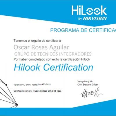 CERTIFICACION CCTV HILOOK BY HIKVISION