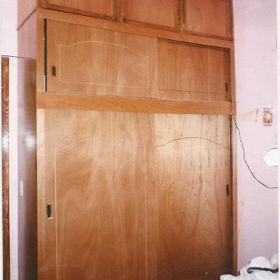 closet tradicional en madera de caobilla