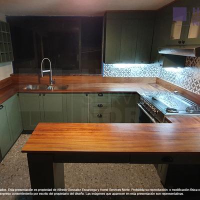 Fabricación de cocina estilo Farmhouse