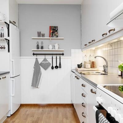 cocina nrdica pintada de gris