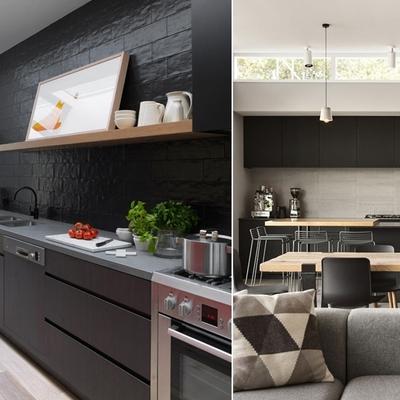Blanco y negro, el yin y el yang de las cocinas