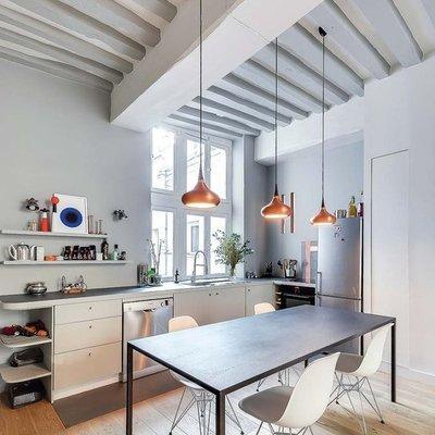 cocinas con vigas en el techo