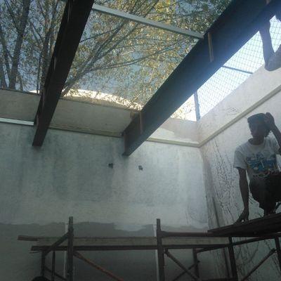 Construccón de pérgola Av Juan Baez