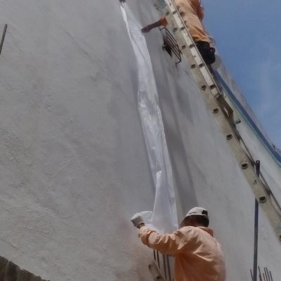 """IMPERMEABILIZACION DE MURO EXTERIOR EDIFICIO CASA DE EMPEÑO """" PRESTO CASH"""""""
