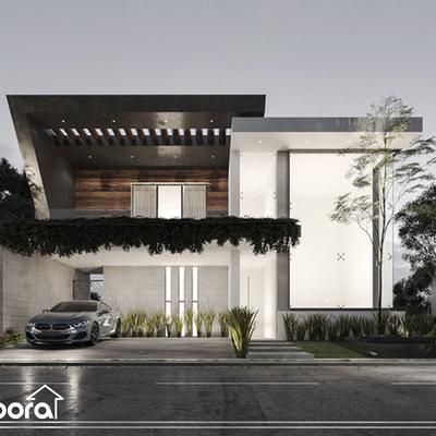 Casa moderna de diseño auténtico con naturaleza integrada e innovadores detalles.