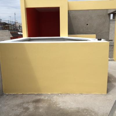 cubrir cubo de concreto