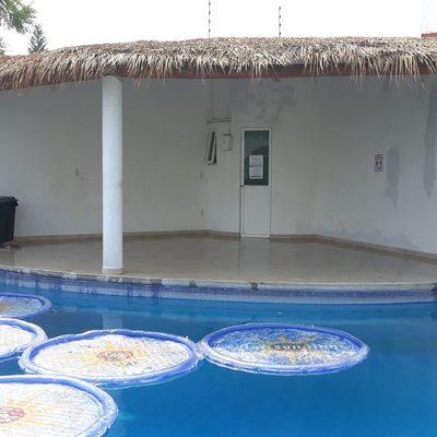 Remodelación de piso en área de palapa
