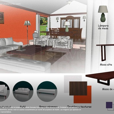 Proyecto de diseño interior   Sala