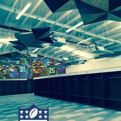 Diseño de interiores Vestidores NFL Estadio Azteca