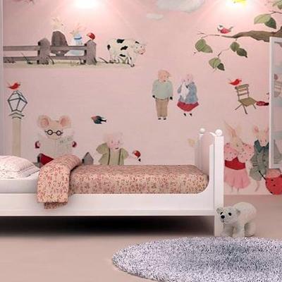 Diseño de interiores, recámara infantil.