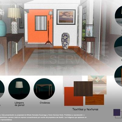 Proyecto de diseño interior   Recibidor