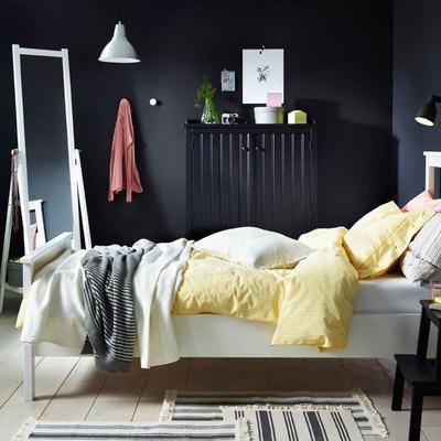 dormitorio-en-gris-y-amarillo-
