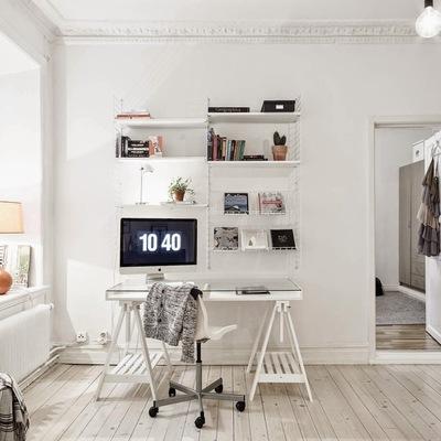 Espacio de trabajo moderno en casa