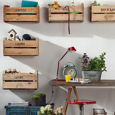 estanterias con cajas
