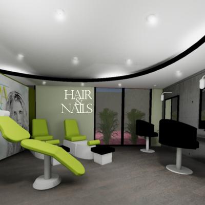 decoración spa , sala de espera y estética