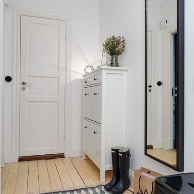 Recámara con mobiliario de estilo nórdico